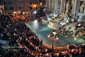 """Toccata e Fuga"" a Fontana di Trevi (RM) - 8 agosto 2011"