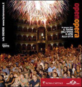 Evento del 29.06.2011: il Teatro dell'Opera di Roma si apre ai cittadini